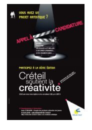 créteil soutient la créativité