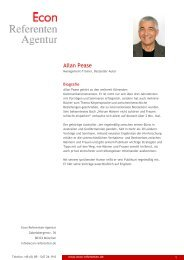 Allan Pease - Econ Referenten-Agentur