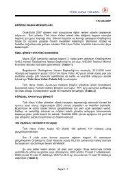 TÜRK HAVA YOLLARI 1 Aralık 2007 DEĞERLİ ... - Turkish Airlines