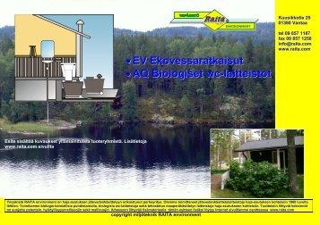 EV Ekovessaratkaisut •AQ Biologiset wc-laitteistot - Raita Environment