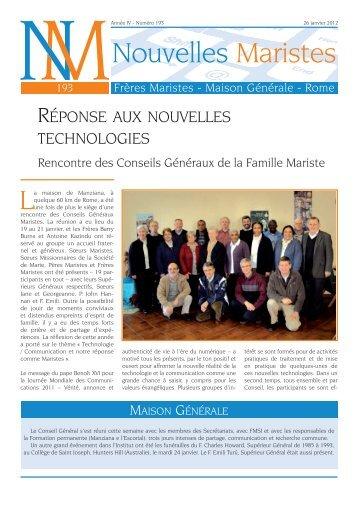 Nouvelles Maristes Frères Maristes - Maison Générale - Rome…