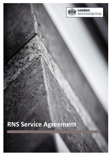 RNS Service agreement - London Stock Exchange