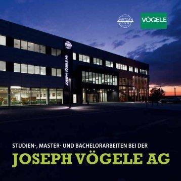 UND BACHELORARBEITEN BEI DER JOSEPH VöGELE AG