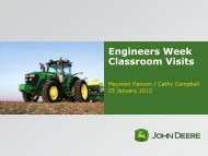 John Deere Engineers Week Classroom Vists by Maureen Hanson ...
