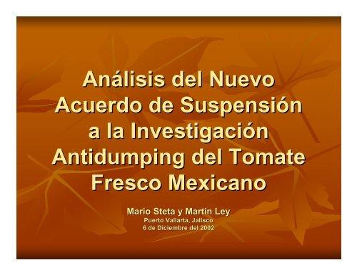 Análisis del Nuevo Acuerdo de Suspensión a la Investigación ...