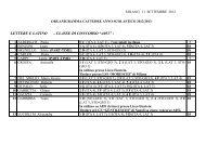 ORGANIGRAMMA CATTEDRE ANNO SCOLASTICO 2004/2005