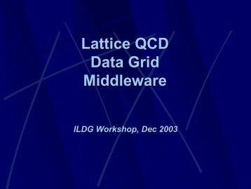 Lattice QCD Data Grid Middleware