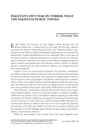 C. Christine Fair - Journal of International Affairs - Columbia University