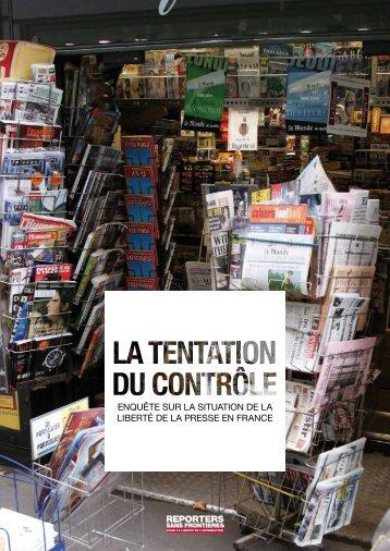 enquête sur la situation de la liberté de la presse en france