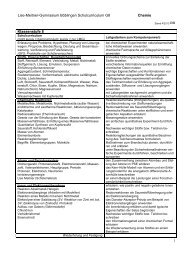 Lise-Meitner-Gymnasium Böblingen Schulcurriculum G8 Chemie 1 ...