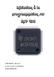 Introduction MSP430 - Ressources et projets électroniques