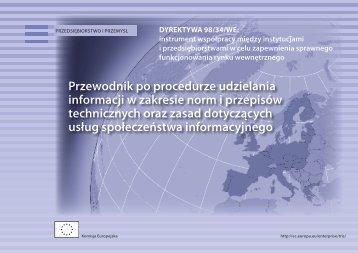 Przewodnik po procedurze udzielania informacji w zakresie norm i ...