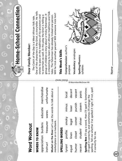 Grade 5 Unit 3 Week 1 - Treasures - Macmillan/McGraw-Hill