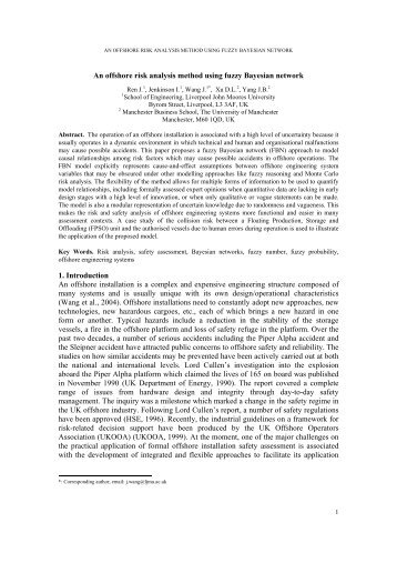 An offshore risk analysis method using fuzzy Bayesian network 1 ...