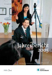 Jahresbericht 2005 - Kantonalbanken