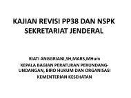 kajian revisi pp38 dan nspk sekretariat jenderal - Kebijakan ...