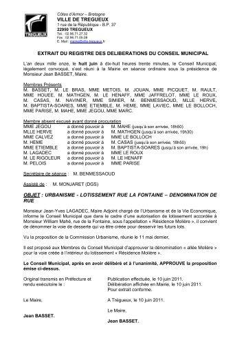 délibérations CM 8 06 11 - Trégueux