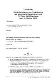 TV-Prakt AWO Hamburg - Arbeitgeberverband AWO Deutschland eV
