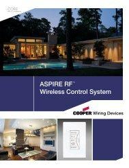 ASPIRE RF™ Wireless Control System - HomeSeer Technologies LLC