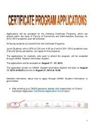 Applications will be accepted for the following Certificate Programs ...