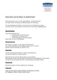 Veranstaltungsbroschüre download - Hotel Erber