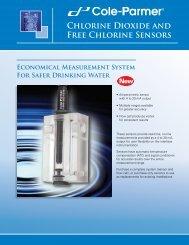 Cole-Parmer loop powered chlorine and chlorine dioxide sensors