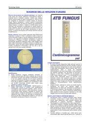 DIAGNOSI DELLE INFEZIONI FUNGINE - Sezione di Microbiologia
