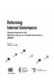 Reforming Internet Governance: Perspectives from WGIG