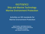 Activities on ISO Standards for Marine Environment ... - Bellona