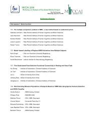 Preliminary Program Oral session 1 - Biomedical Signal and Image ...
