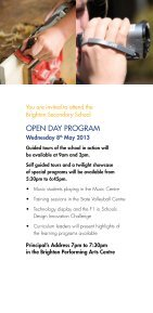Open Day 2013 - Brighton Secondary School - Page 3