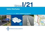 Silnice I/21 Velká Hleďsebe - Ředitelství silnic a dálnic