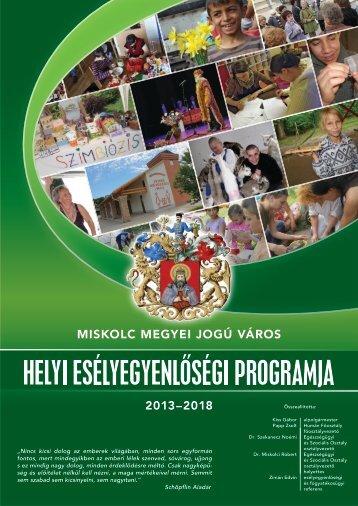 Helyi Esélyegyenlőségi Program - Miskolc