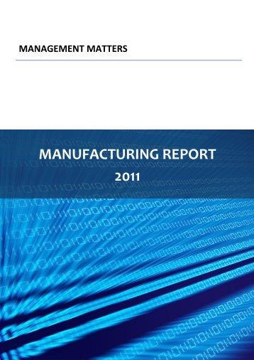 MANUFACTURING REPORT 2011 - (AIM) Research