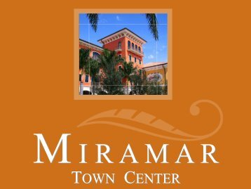 town center town center - South Florida Regional Planning Council