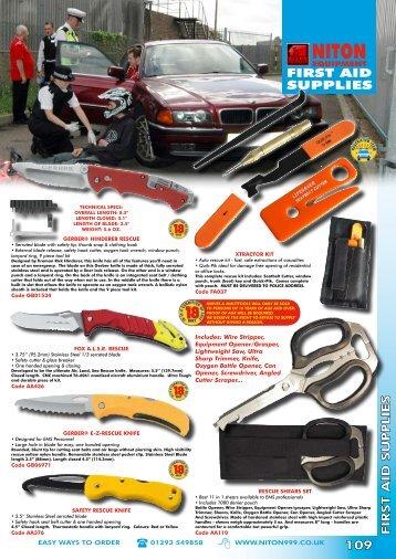 FiRSt AiD SuppLieS - Niton 999 Equipment