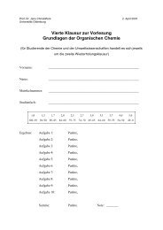 Klausur am 02.04.2007 - Organische Chemie - Christoffers