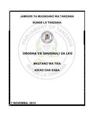 orodha ya shughuli za leo mkutano wa tisa kikao cha saba 7 ...