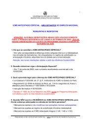 icms antecipado especial - Sefa - Governo do Estado do Pará
