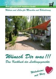 Wünsch Dir was!!! - Wohngemeinschaft Heidehort GmbH