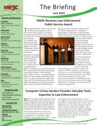 The_Briefing_June_2010 - National White Collar Crime Center