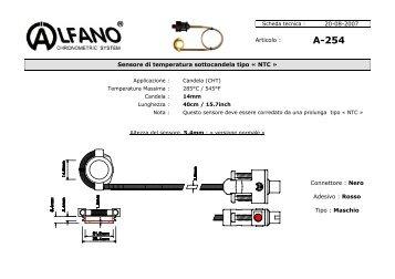 Scheda tecnica - Alfano