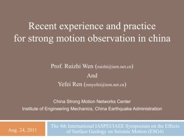 Yefei Ren - ESG4 Conference @ UCSB