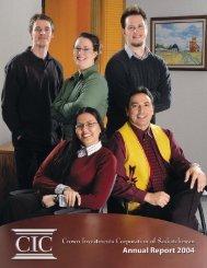 2004 Crown Investments Corporation of Saskatchewan Annual Report
