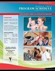 PROGRAM SCHEDULE - YMCA of Simcoe/Muskoka