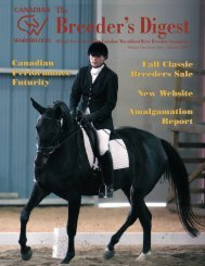 Volume 1 Issue 2 - January 2007 - Canadian Warmblood Horse ...