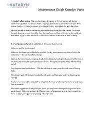 Katadyn Vario Maintenance Guide