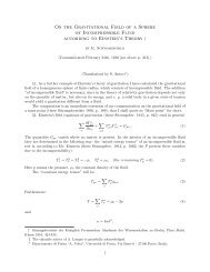 On the Gravitational Field of a Sphere of Incompressible Fluid ...