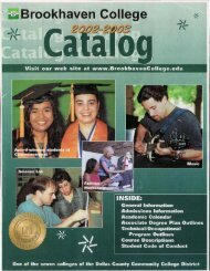 Catalog - Dallas County Community College District