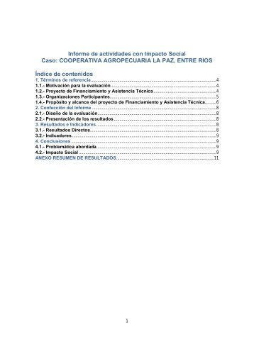 COOPERATIVA AGROPECUARIA LA PAZ, ENTRE RIOS(+ Info)